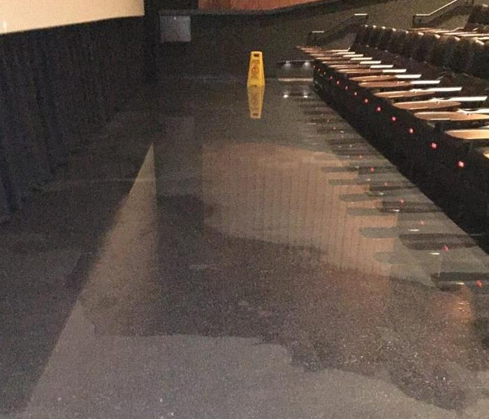 Flooded Movie Theater in Denton, Tx Before