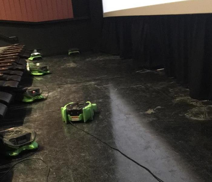 Flooded Movie Theater in Denton, Tx After
