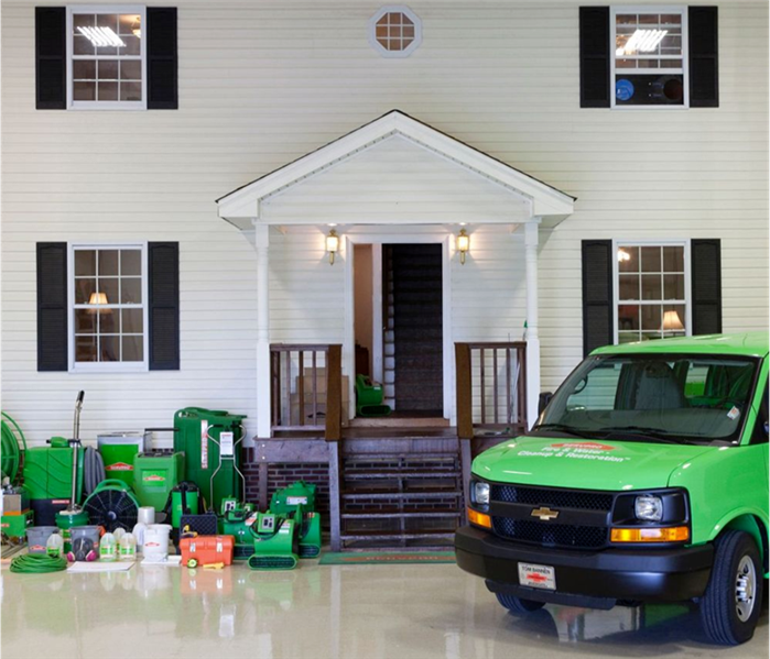 Photo of the SERVPRO Training House with training equipment shown